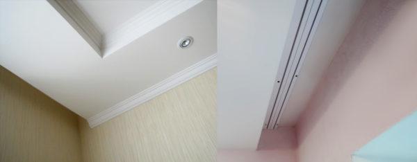 Как аккуратно спрятать карниз в потолочную нишу