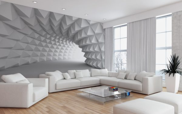Украшаем комнату геометрическими фигурами на стенах