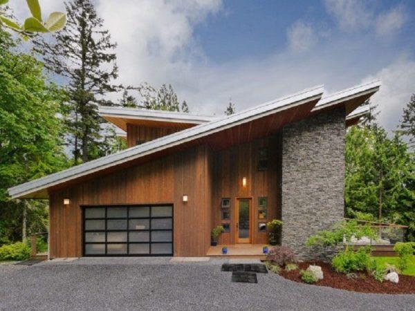 Односкатная конструкция очень простая и иногда выбирается для своего дома.