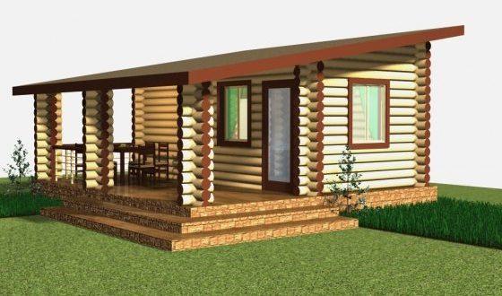 односкатная крыша для бани