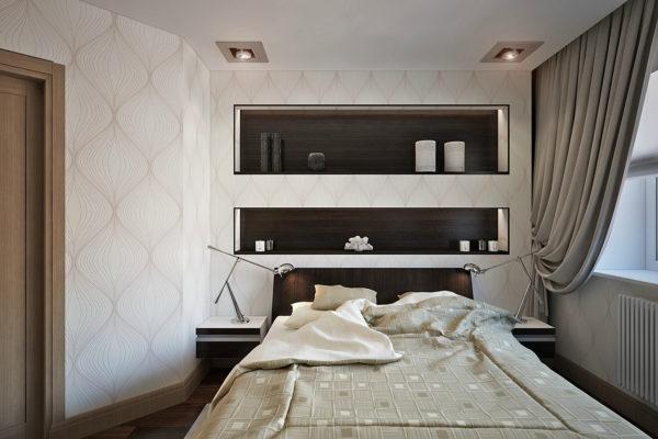 Как красиво оформить нишу в интерьере спальни