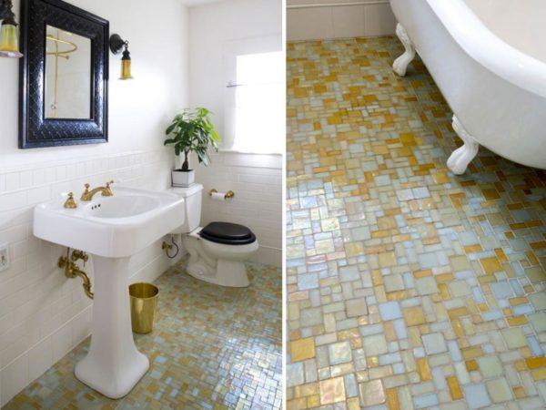 Плюсы и минусы мозаичного пола в ванной комнате