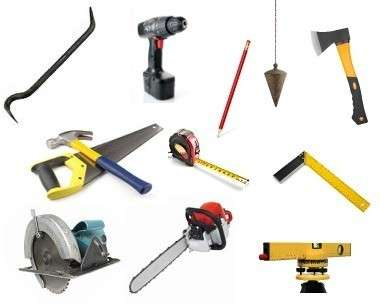 Ориентировочный набор инструмента, который может вам пригодиться.