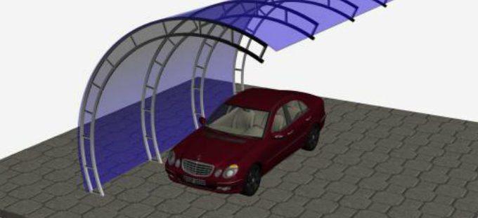 Оригинальное дизайнерское решение для создания автомобильного укрытия