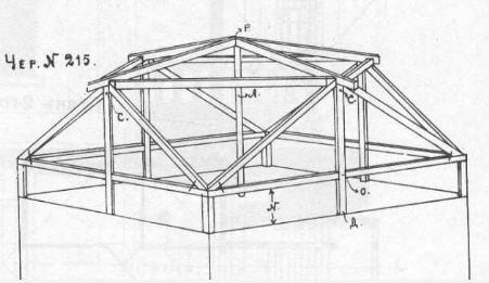 Оригинальный чертеж крыши из книги Судейкина