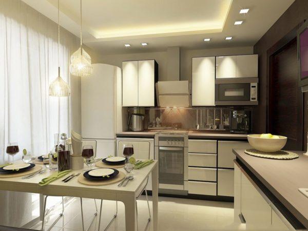 Освещение кухни: правила и особенности