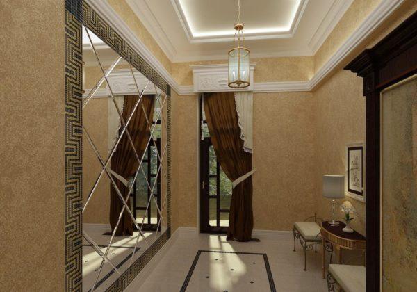 Способы визуально увеличить потолок в узкой прихожей