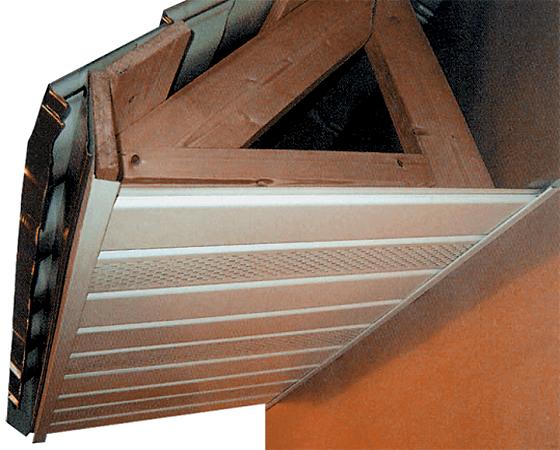 отделка карниза крыши