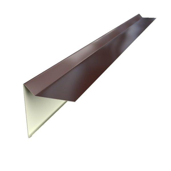 Планки каждого типа имеют свой профиль, на фото – элемент для защиты фронтонов