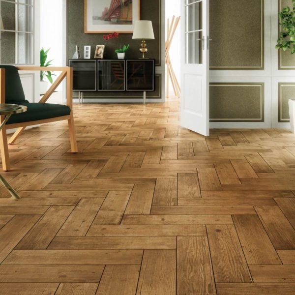 Где можно использовать плитку из дерева в квартире