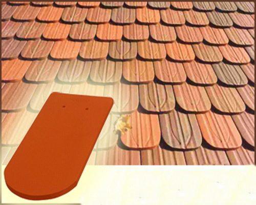 Плитка типа «бобровый хвост» представляет собой плоскую лопатку
