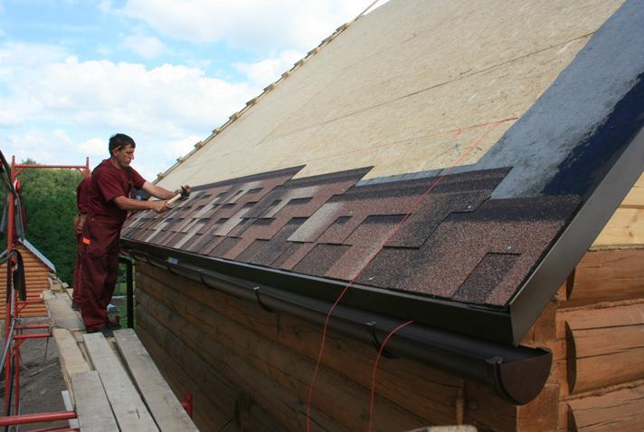 покрытие крыши металлопрофилем