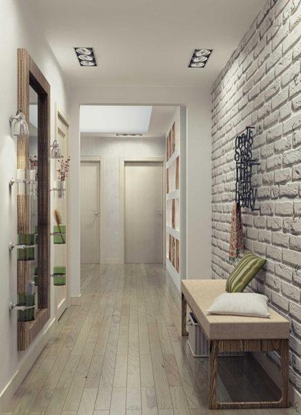 Декоративный камень в интерьере квартире