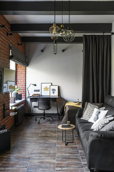 Возможен ли интерьер в стиле лофт для небольшой гостиной