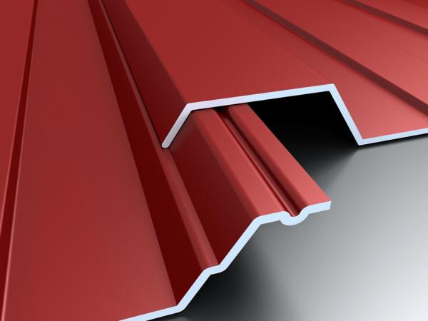 Правильный нахлест: волна листа справа перекрывает канавку на листе слева