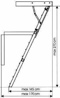 Предварительный точный чертеж чердачной лестницы своими руками – непременное условие успеха всей работы