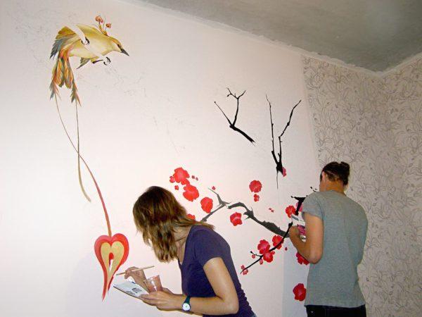 Что такое роспись стен и как ее использовать в интерьере
