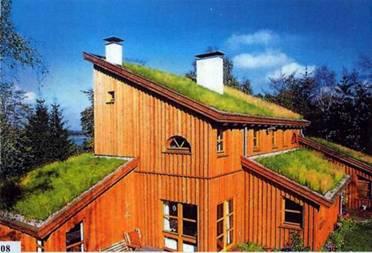 пример использования плоской крыши