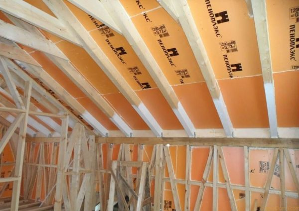 Пример утепления крыши экструзионным пенополистиролом