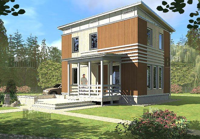 проект дома с односкатной крышей
