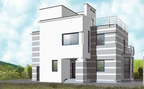проекты домов с односкатной крышей с ценами