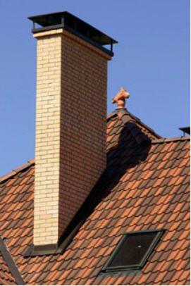 проход дымохода через крышу