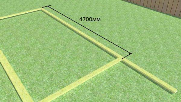 Размер затяжки – верхнего горизонтального бруса