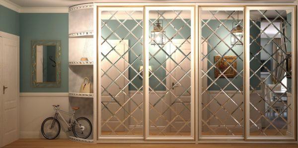 Преимущества зеркальных дверей во встроенных шкафах