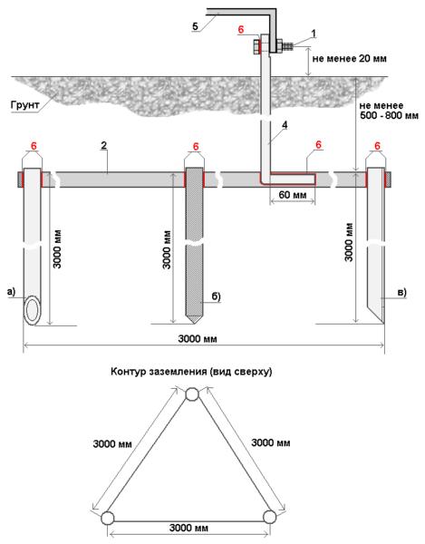 Схема конструкции с размерами