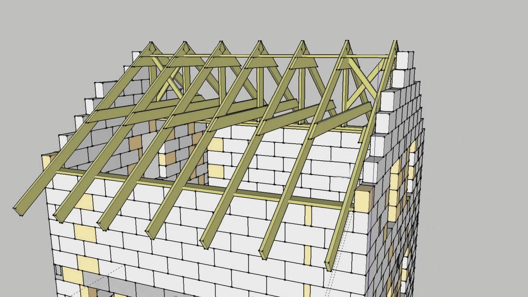 Крыша двухскатная 28