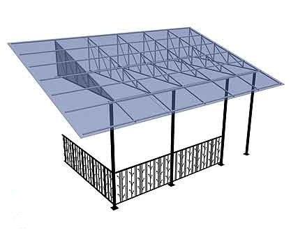 Схема крепежа сотового поликарбоната