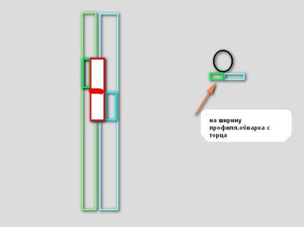 Схема монтажа навесов