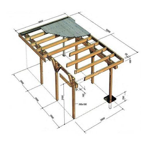 Схема сборки деревянного
