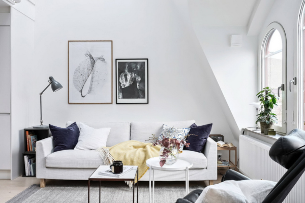 Декор гостиной в скандинавском стиле