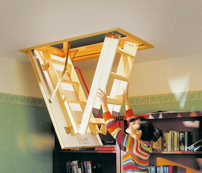 Выдвижная лестница на чердак своими руками