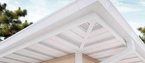 Софиты придают нижней части крыши аккуратный вид