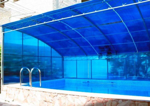 Создание навесного сооружения над бассейном