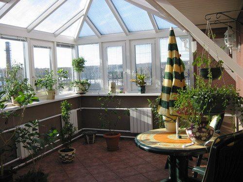 стеклянная крыша дома