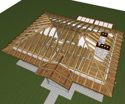 Вальмовая крыша - четырехскатная крыша с треугольными скатами (вальмами.