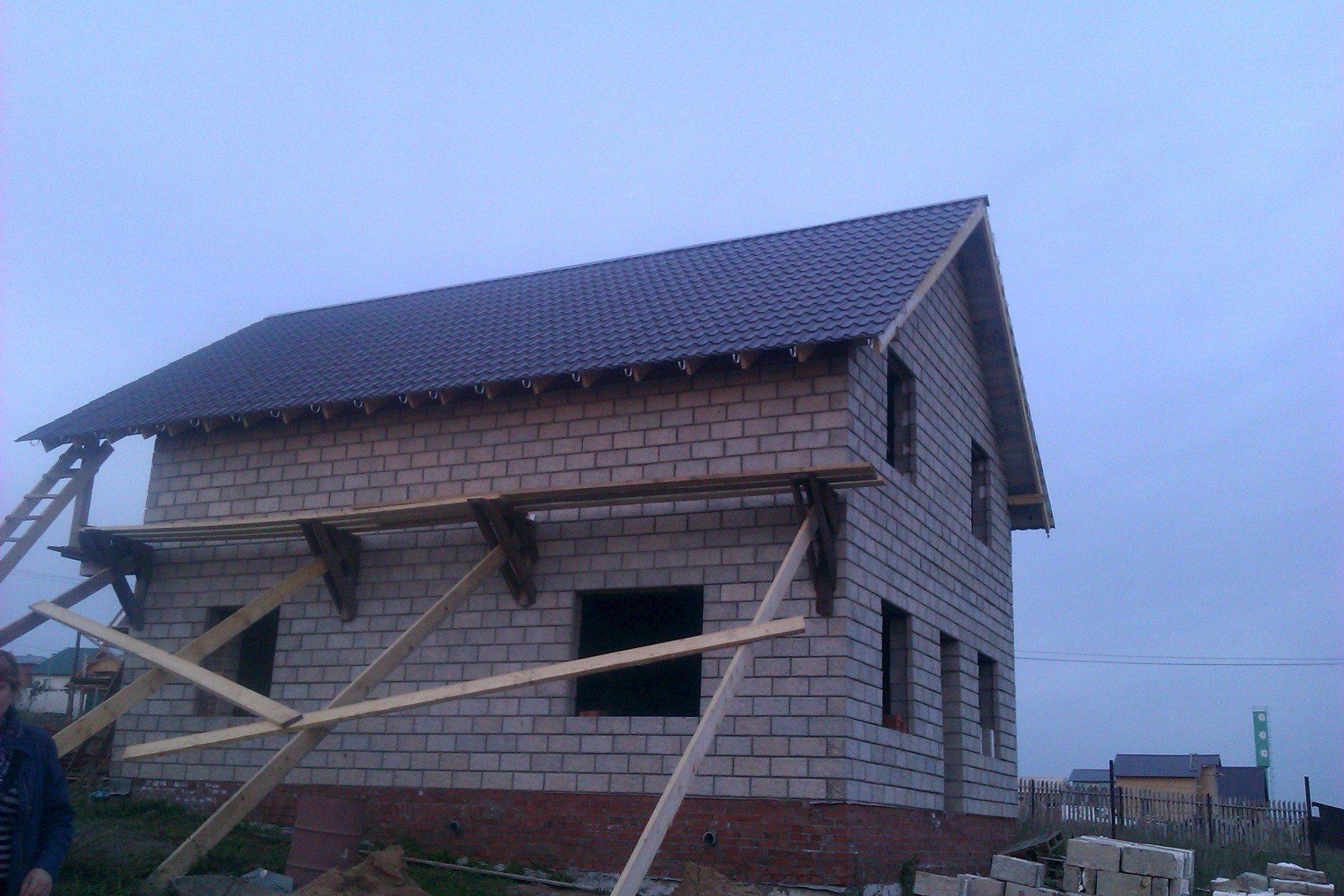 Устройство ломаной крыши своими руками шаг за шагом фото 333