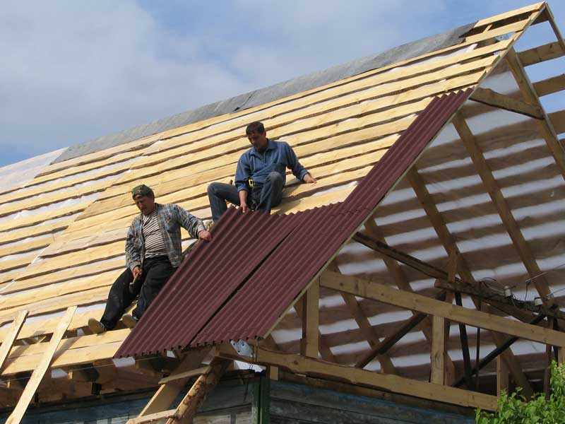 Фото крыши ондулином своими руками