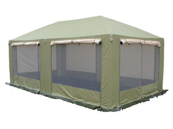 Тент-шатер из комбинированного материала