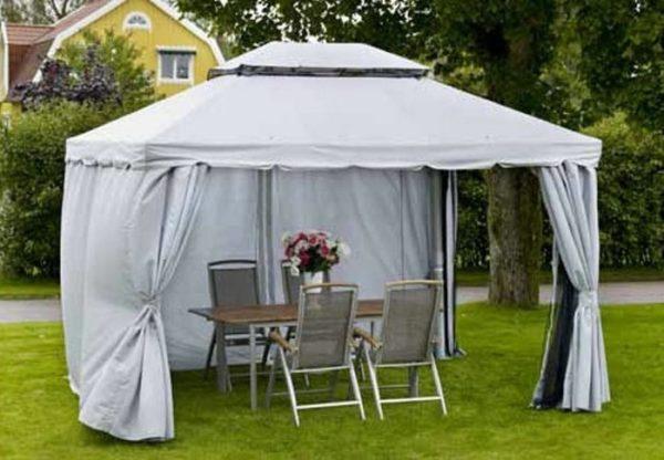 Тентовый навес-шатер для дачи