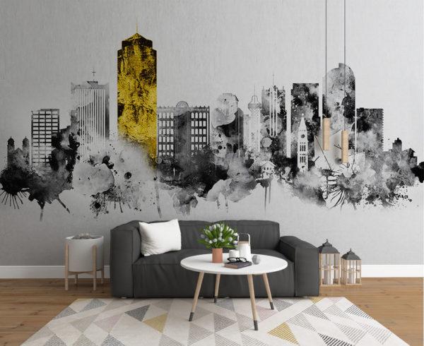 Когда стоит выбрать обои с урбанистическим рисунком