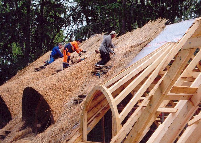 тростниковые крыши