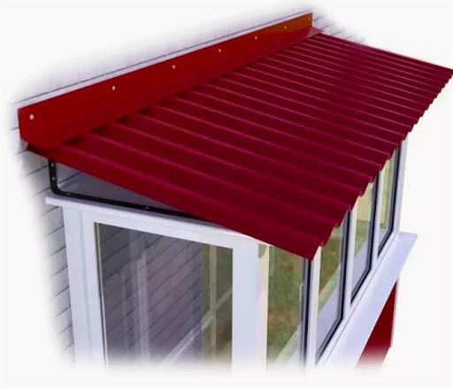 Монтаж крыши на балкон или лоджию