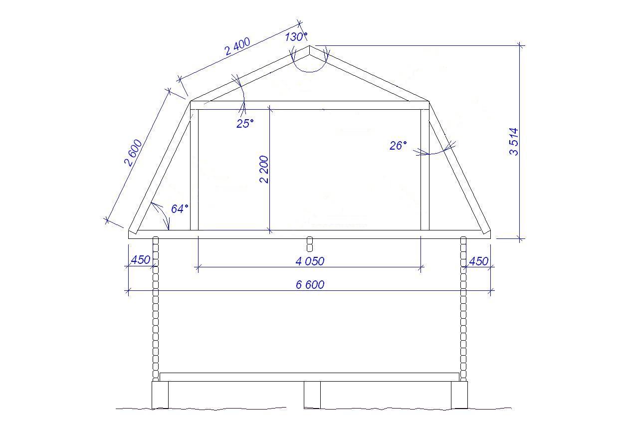 Крыша двухскатная ломаная чертежи и фото пошаговая инструкция