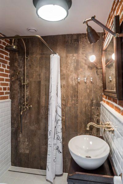 Как обустроить ванную в стиле лофт