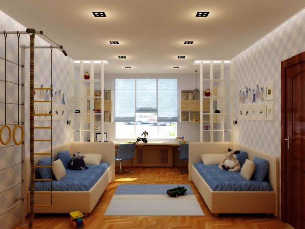 Как обустроить детскую комнату для двух мальчиков