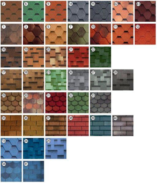 Варианты отличаются и по окраске, и по форме края